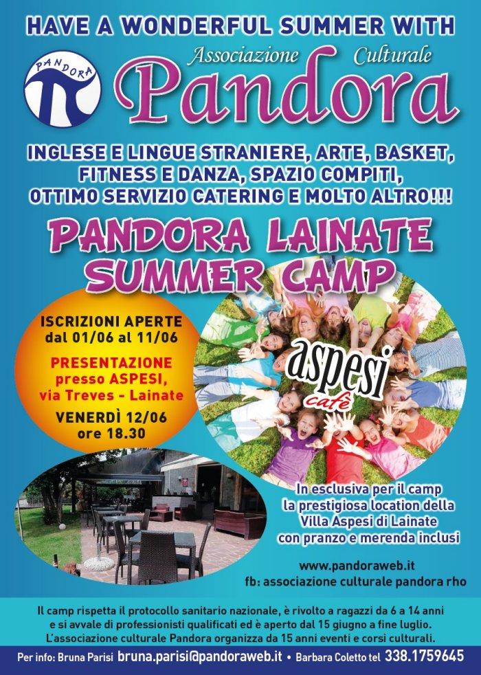 Pandora Lainate Summer Camp 2020