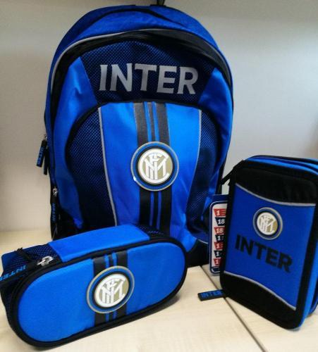zaino e astuccio coordinati Inter